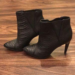 Rachel Zoe Croc Leather Booties